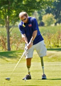 A golf game on the National Day of Golf is a great motivator for a wounded warrior.